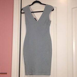 BEBE baby blue dress size s back ziper